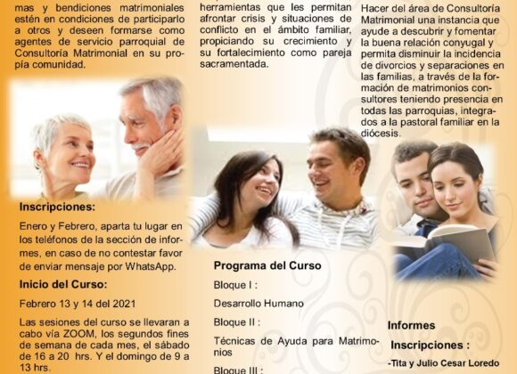 Febrero 13 y 14 Curso Taller Crecimiento Matrimonio y Familia